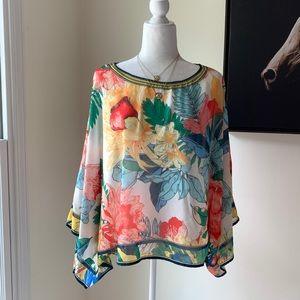 Flying Tomato Floral Kimono Sleeve Women Blouse